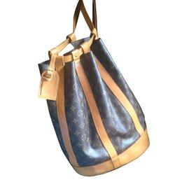 Louis Vuitton-Sacs à dos-Marron