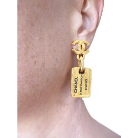 Chanel-Earrings-Golden