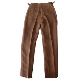 Hermès-Pants, leggings-Caramel