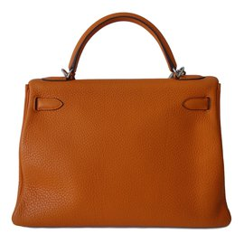 Hermès-SAC HERMES KELLY 32 ORANGE-Orange