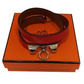 Hermès-Bracelet double tour-Rouge