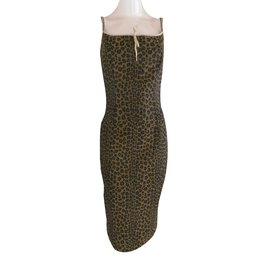 Fendi-Robe-Imprimé léopard