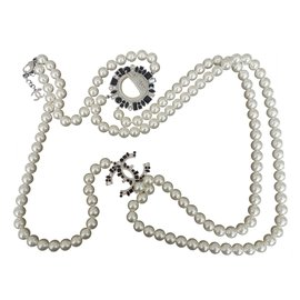 Chanel-SMILEY Necklace-White
