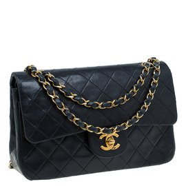 Chanel-Double flap Small-Noir