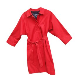 Burberry-Trench coat-Red