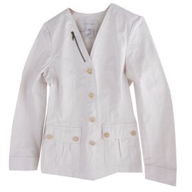 Céline-Celine Matelasse Cotton Jacket-White