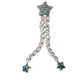 Autre Marque-etoiles diamants blancs et bleus Ugo cesare-Argenté