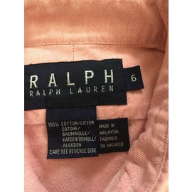 Ralph Lauren-Top fille-Corail