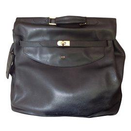 St Dupont-sac de voyage à soufflet ST Dupont-Noir