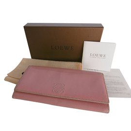 Loewe-Loewe Long Leather Wallet-Pink