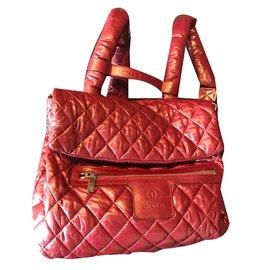 Chanel-Chanel Cocoon sac à dos-Bordeaux