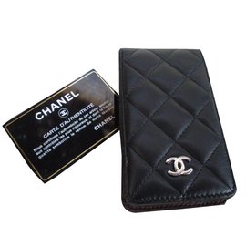 Chanel-Etui  iphone 4-Noir