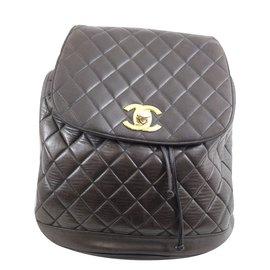 Chanel-Sac à dos-Marron