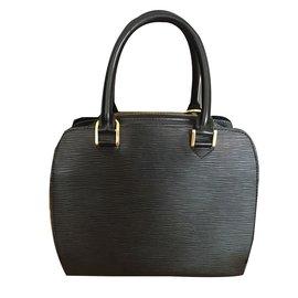 Louis Vuitton-Sac à main Louis Vuitton modèle Pont Neuf-Noir