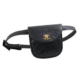 Chanel-Sac ceinture-Noir