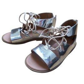 Zara-Kids Sandals-Silvery