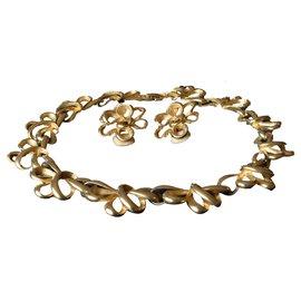Autre Marque-Collier et boucles d'oreilles en plaqué or-Doré