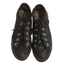 Converse-Converse cuir noir-Noir
