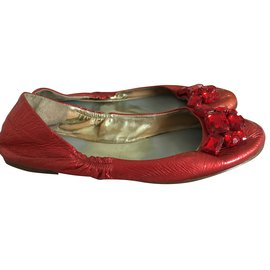 Guess-Ballerines rouge Guess-Rouge