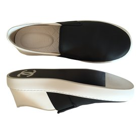 Chanel-Loafers-Black,White