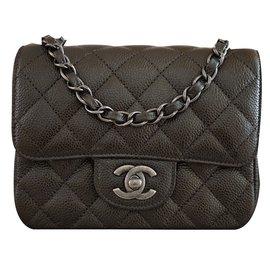 Chanel-Sac à main-gris anthracite
