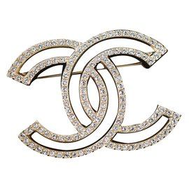 324c7f2369c3 Chanel-Pin   brooch-Golden ...