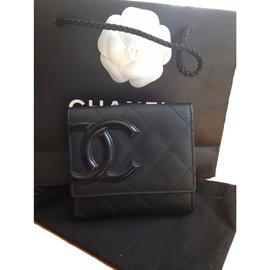 Chanel-Porte monnaie CAMBON-Noir