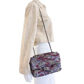 Chanel-Sac rabat sequin-Multicolore