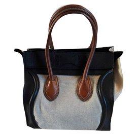 Céline-Luggage PM-Beige