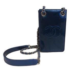 Chanel-o-phone crossbody-Bleu