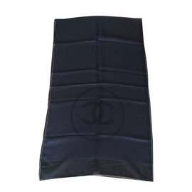 Chanel-Etole soie Chanel-Noir