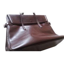Longchamp-Sac à main-Marron foncé