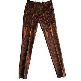 Céline-Pants, leggings-Brown
