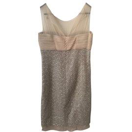 Chanel-Tailleur jupe-Beige