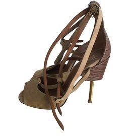 Givenchy-Sandales-Marron