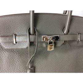 Hermès-Hermes Birkin 35 Clemence Etain SHW-Gris