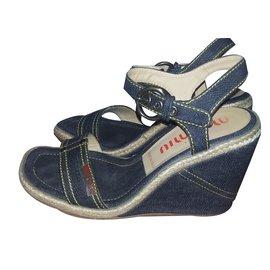 Miu Miu-Sandales-Bleu