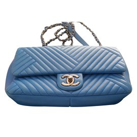 Chanel-timeless chevron-Blue