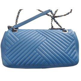 Chanel-timeless chevron-Bleu