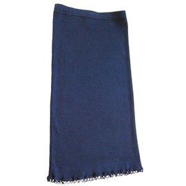 Chanel-Skirt-Navy blue