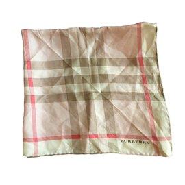 Burberry-Silk scarF-Pink