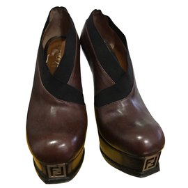 Fendi-Ankle Boots-Beige