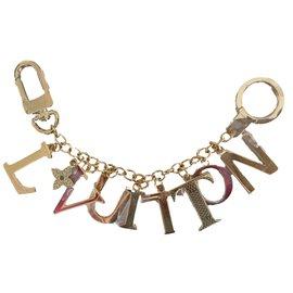 Louis Vuitton-Bijou de sac Louis Vuitton Tag Chain Bag-Doré