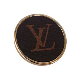 Louis Vuitton-BROCHE LOGO XXL-Marron