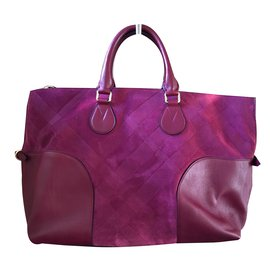 Burberry-Bur Handbag-Purple