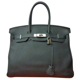 Hermès-Sublime Sac Hermès Birkin 35 en cuir Togo noir / Etat neuf.-Noir