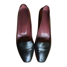 Hermès-Ballerines-Noir