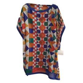 Hermès-Tunique de plage-Multicolore