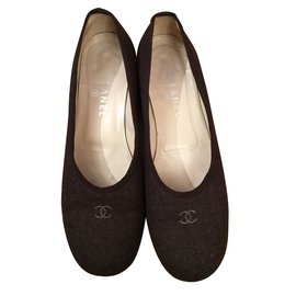 Chanel-Ballerines-Marron