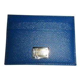 Dolce & Gabbana-porte cartes-Bleu